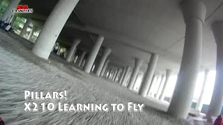 Learning to fly at the PILLARS! Rain or Shine! Racing Drones Playground!