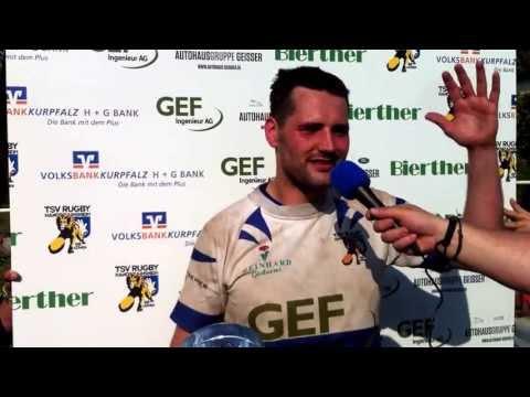 Kapitän Johannes Laule zum Sieg der zweiten Mannschaft.