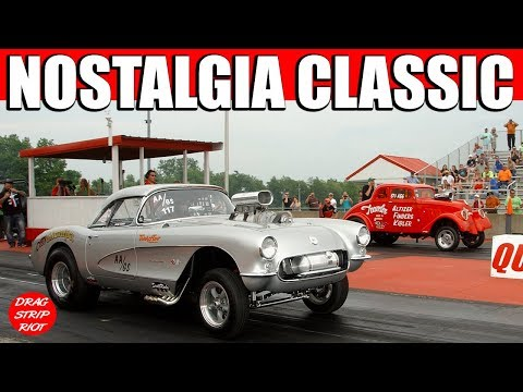 2016 Nostalgia Classic ScottRods AA Gassers Drag Racing Cars Video