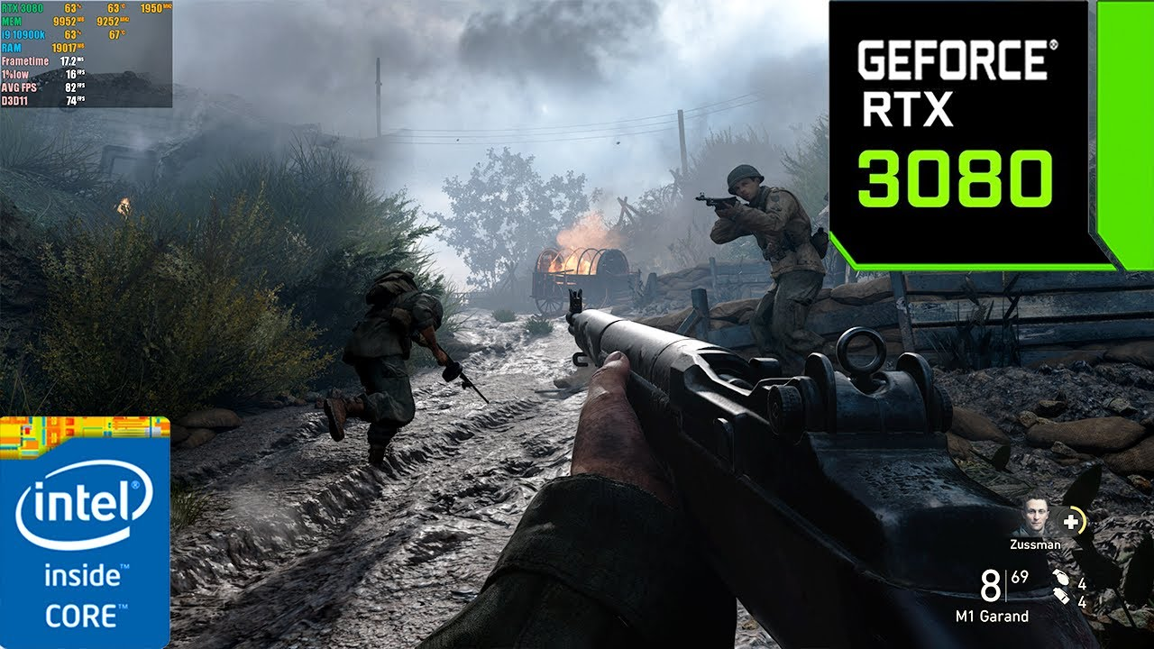 Call of Duty : WWII RTX 3080 10GB ( 4K Maximum Settings )