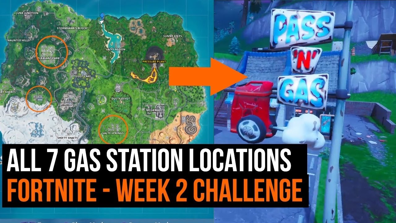 Closest Gas Station To My Location >> All 7 Gas Station Locations Fortnite Season 10 Week 2 Challenge Guide