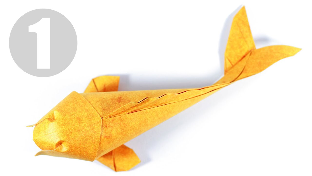 Part1 2 how to fold origami koi fish v 2 kade for Origami koi fish