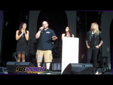 98Rock Baltimore - Trans Siberian Orchestra charity check