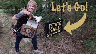 This ESTATE SALE Sign Popped Up Overnight and We Spent $795   Reselling