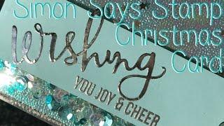 Simon Says Stamp Wishing You Joy Christmas Shaker Acetate Card