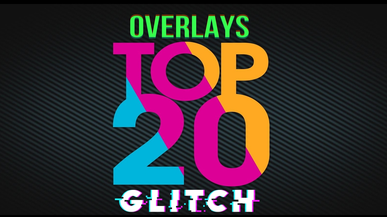 TOP 20 - Glitch Transitions Pack Overlays for Sony Vegas & After Effects  2017
