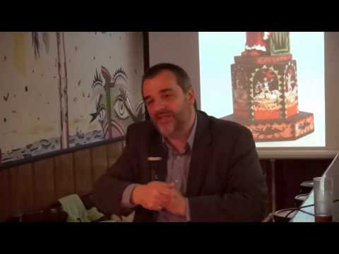 Coneguem el periodista Andreu Mas durant la presentació de l'exposició 'Els Dimonis d'en Xirgu'
