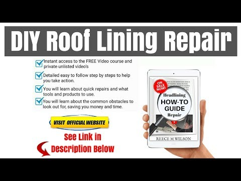 How to Repair a Sagging Roof Lining Ceiling In Your Car