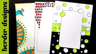 Quick | Border designs on paper | border designs | project work designs | borders for projects