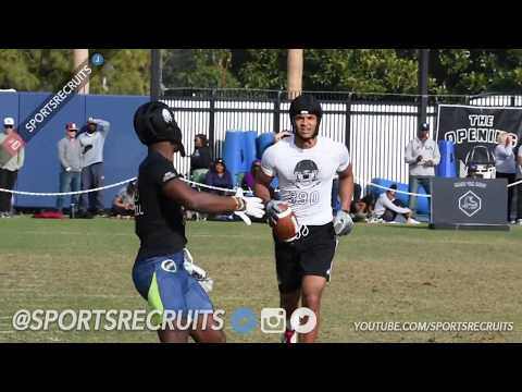 LA Regional 2018: The Opening WR/DB Highlights from Chargers Facility @SportsRecruits Official Mix