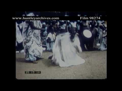 Dance in Nothern Nigeria.  Archive film 98274