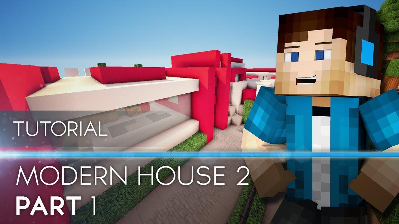 Tutorial Minecraft Modern House 2 Part 1 HD YouTube