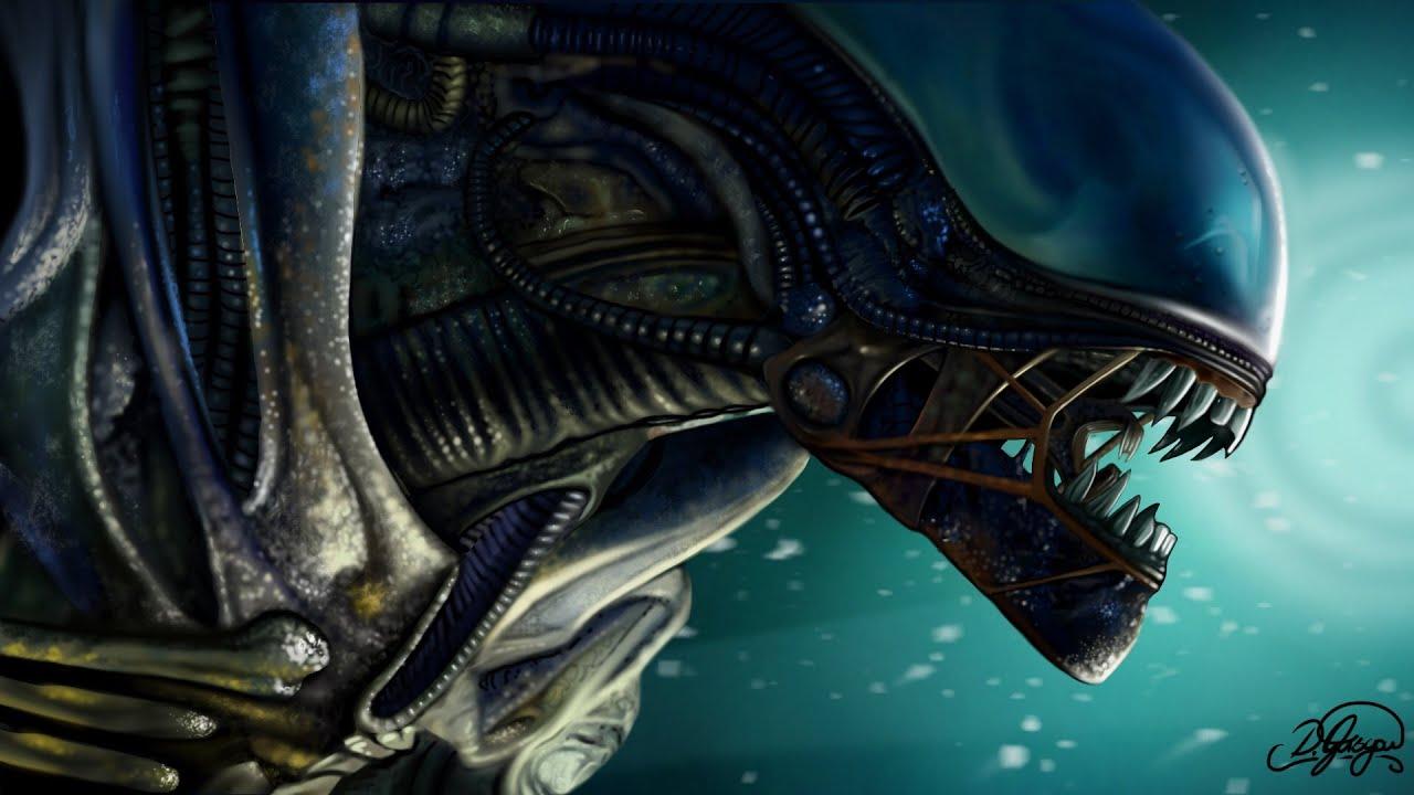 Alien Isolation - Speed painting - iPad (procreate) - YouTube