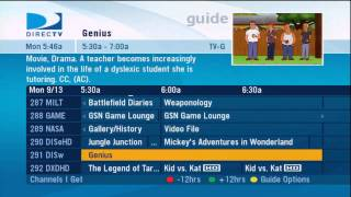 directv program guide sampler 9 30 2007 clipzui com rh clipzui com RCA DirecTV Guide DirecTV Guide Schedule for Today