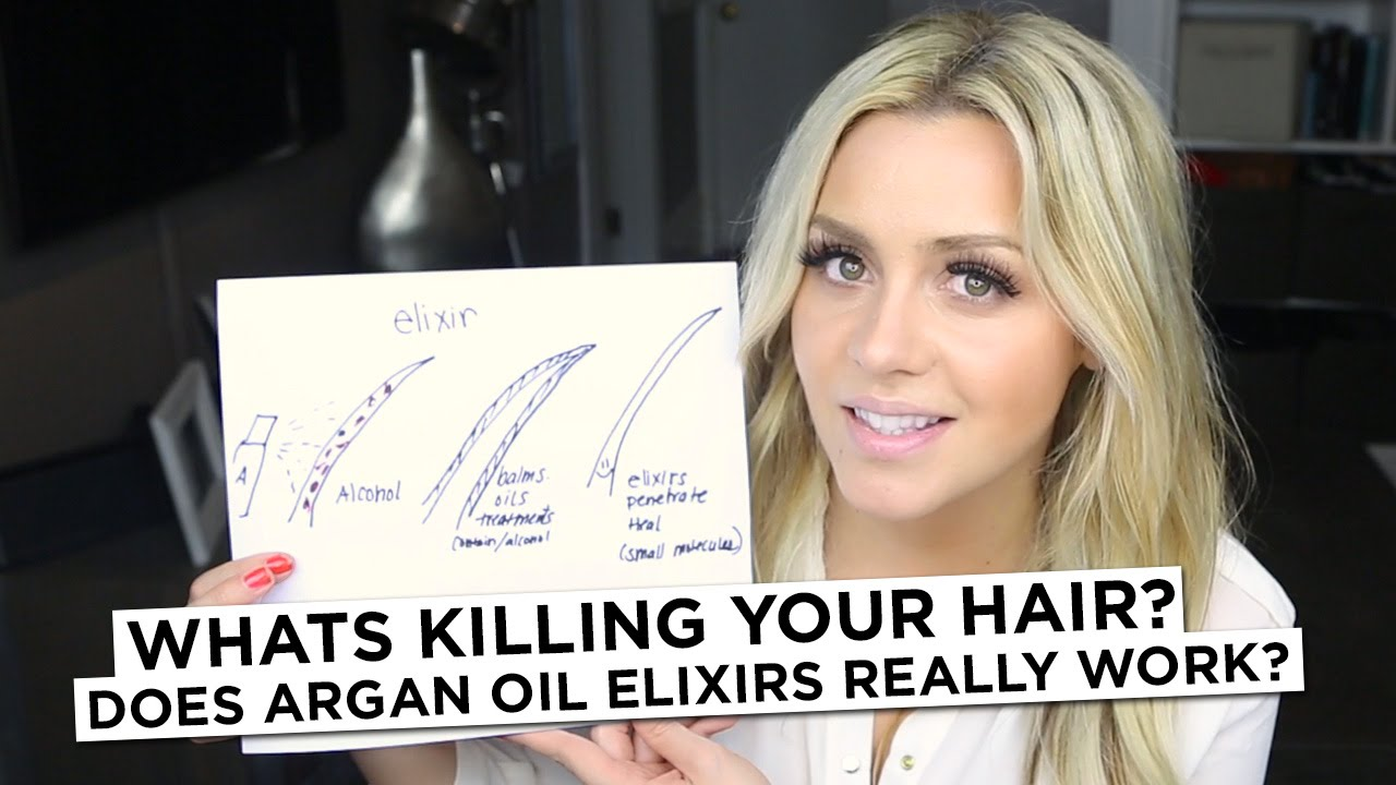 Whats Killing Your Hair Does Argan Oil Elixirs Really Work Youtube