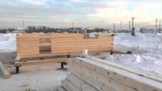 Строительство бани из бруса. Сборка стен. Поселок близкий(, 2016-02-18T14:04:57.000Z)