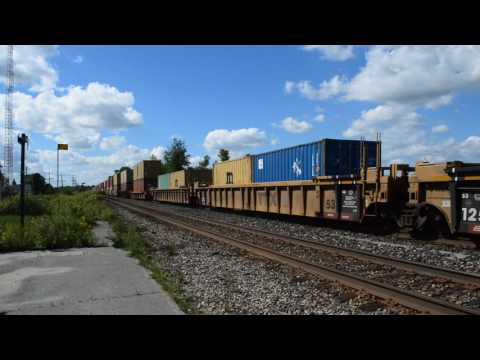 Freight Train Passing Gananoque Station, Thousand Islands, Canada