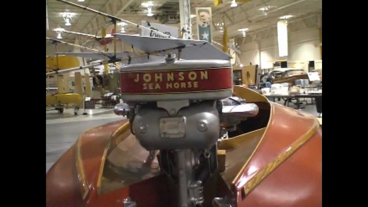 Penn yan boats johnson sea horse outboard motor youtube for 4 horse boat motor