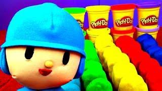 30 Surprise Eggs! Play Doh POCOYO Peppa Pig Spongebob Cars Disney Frozen Princess Kinder FluffyJet