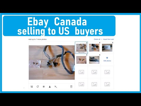 Canadian Ebay Members:  Selling To The US:  Easy Listing Shipping Option