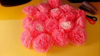 Как сделать розы из салфеток быстро и легко