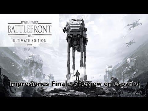 Star Wars Battlefront Ultimate Edition Ps4 Impresiones Finales Análisis en español ¿merece la pena?