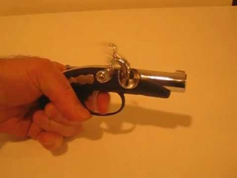 Vintage Cigarette Lighter Flintlock pistol .AVI
