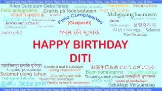 Diti   Languages Idiomas - Happy Birthday