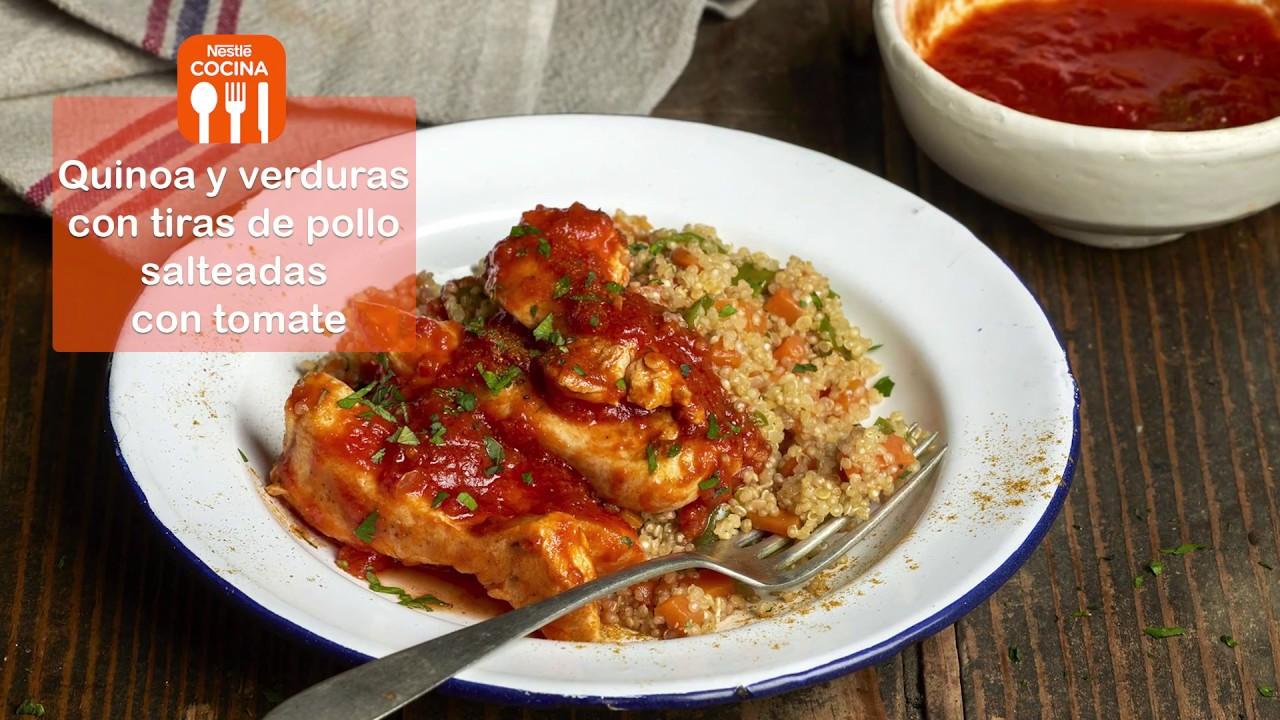 Quinoa con verduras pollo y tomate recetas nestl for Cocinar quinoa con pollo
