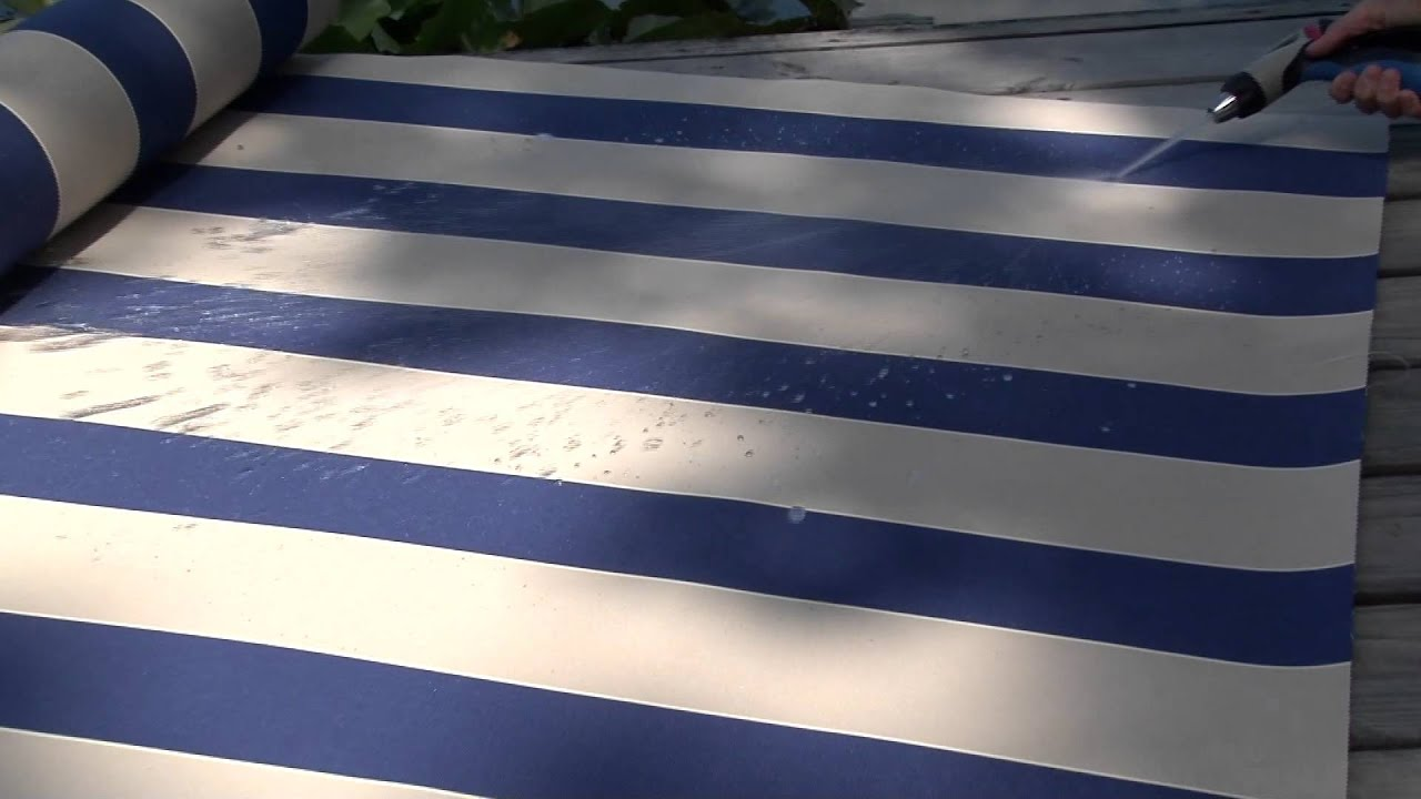 Video Of Sunbrella Mediterranean Canvas Block Awning Stripe Fabric 4921 0000