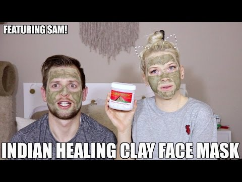 TESTING THE INDIAN HEALING CLAY FACE MASK | Featuring my husband | KendraCus