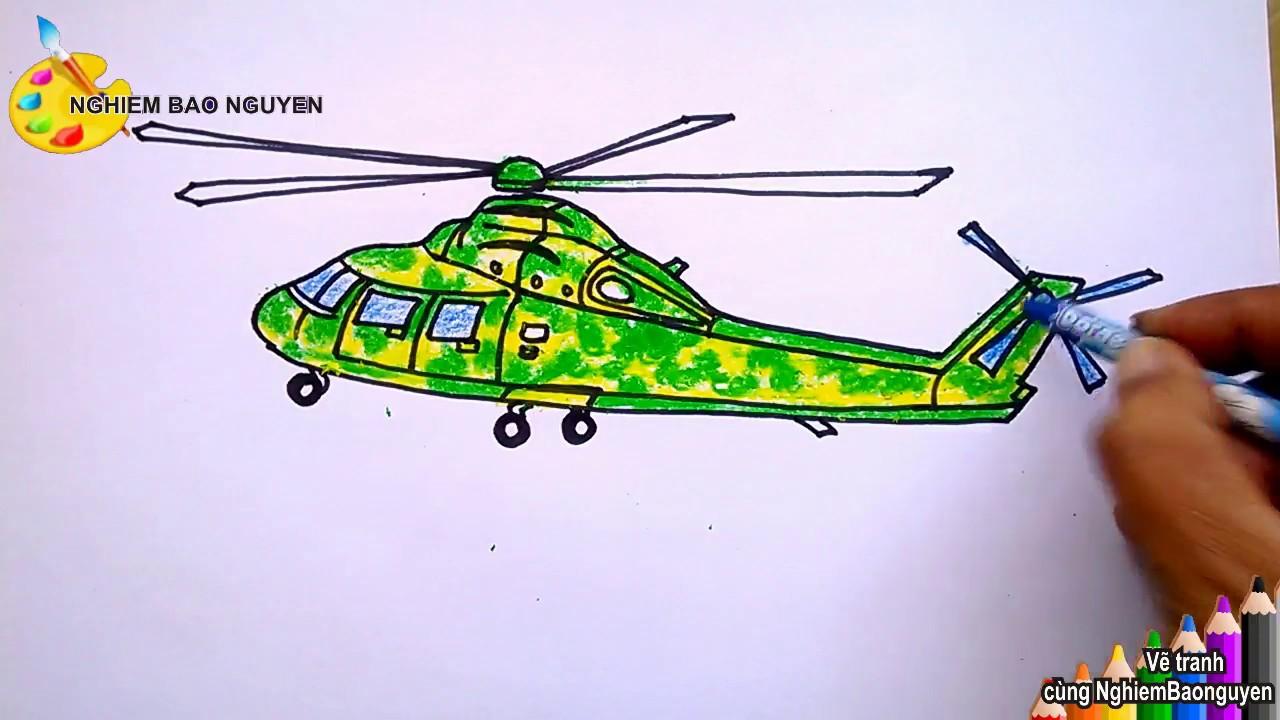 Vẽ máy bay trực thăng/How to draw Helicopter
