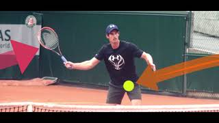 Теннис. Удар слёта справа.