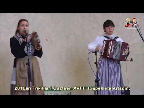 1609250301 Maite Txapartegi eta Eva Astigarraga, Artadiko XVIII  Trikitilari Gazteen Txapelketan