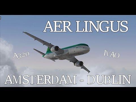 [FSX+IVAO] Amsterdam - Dublin   Aerosoft A320 Aer Lingus