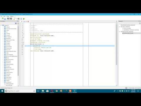 Practice Cobol At Home in Windows PC for Free using Open cobol IDE