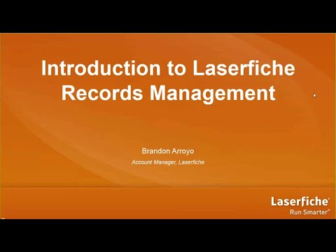 Introduction to Laserfiche Records Management