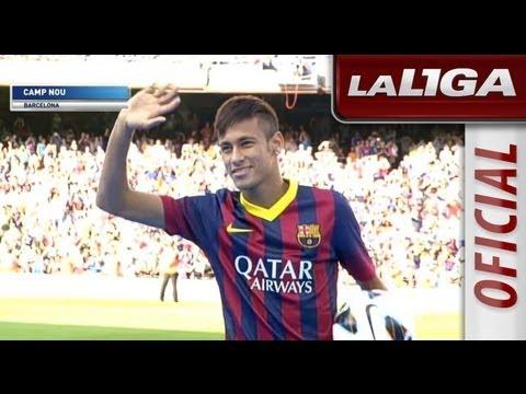 Presentación de Neymar en el Camp Nou