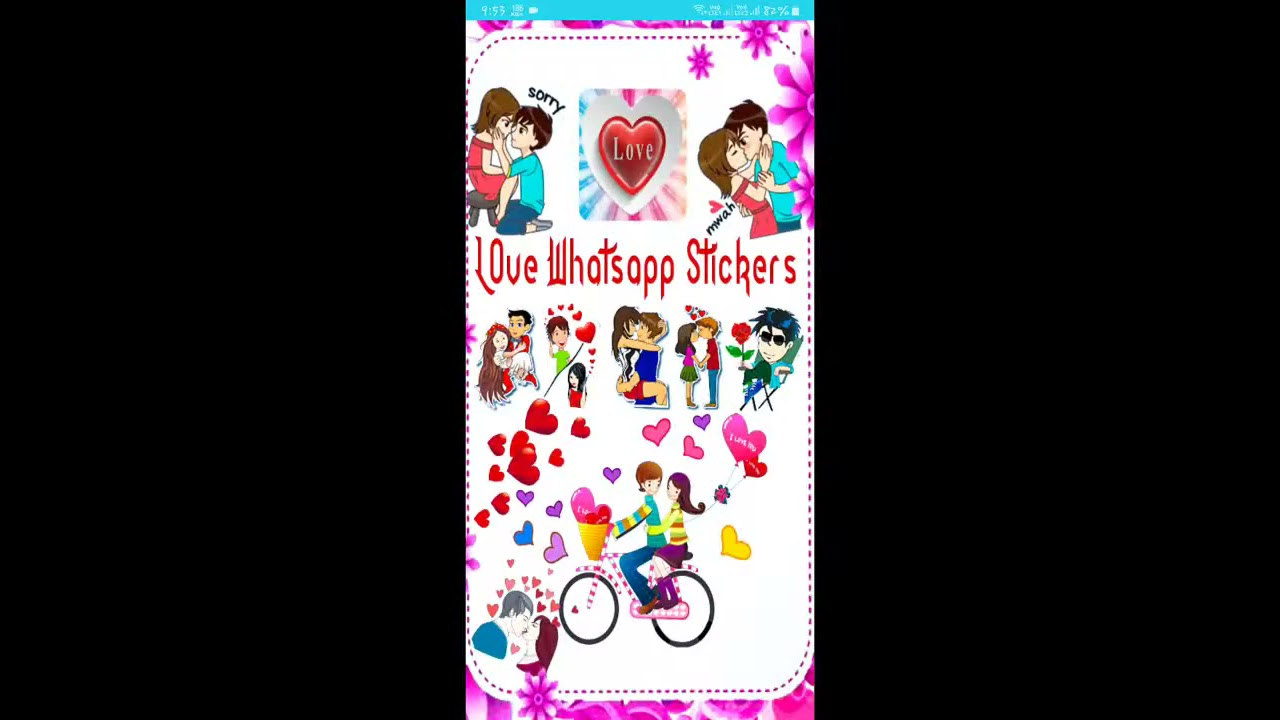 Whatsapp Love Stickers Romantic Love Stickers Couple Love Stickers Pack Youtube