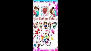 Whatsapp Love stickers Romantic love stickers Couple love stickers pack