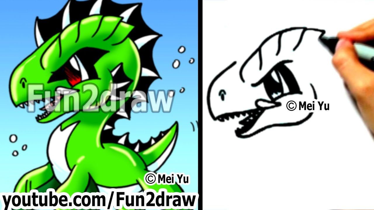 Easy Cartoon Drawings  How To Draw A Cool Sea Monster  Drawing Step By  Step  Fun2draw  Youtube