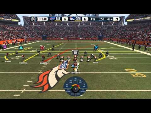 Madden 16: Bills v.s Broncos. Exhibition game 2nd half. Peyton Manning injury!