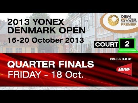 QF (Court 2) - MS - Du Pengyu vs Gurusaidutt R. M. V. - 2013 Yonex Denmark Open
