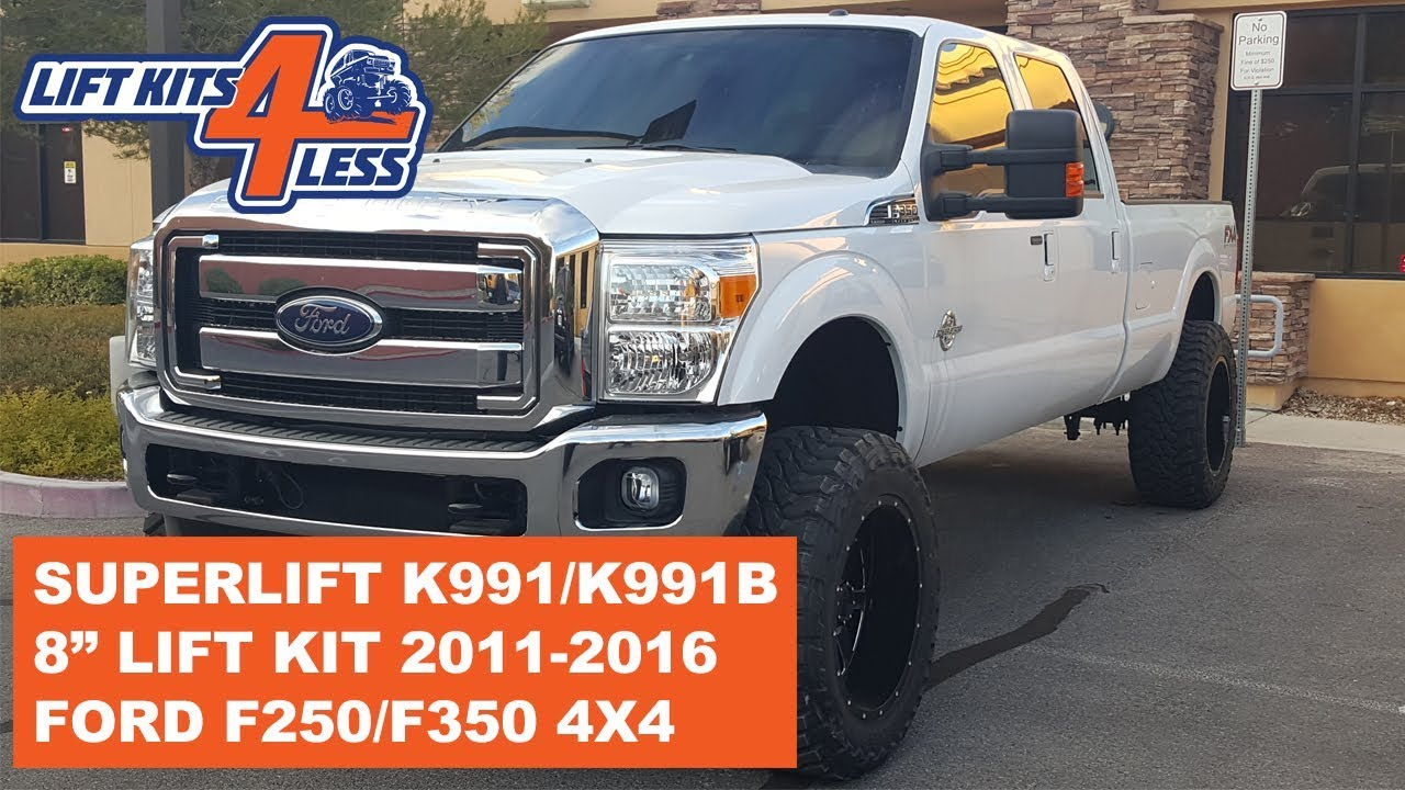 small resolution of superlift k991 8 suspension lift kit 2011 2016 ford f 250 f 350 4x4