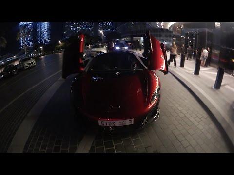 Rich List Junior McLaren Driving Through Dubai