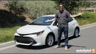 2019 Toyota Corolla Hatchback SE Test Drive Video Review