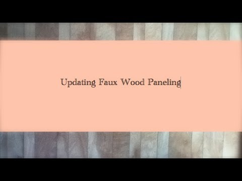 - Home Decor: Updating Faux Wood Wall Paneling - YouTube