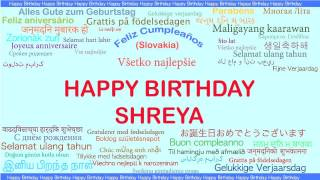 Shreya   Languages Idiomas - Happy Birthday