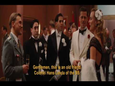 the whole 'italian' scene (inglourious basterds) - YouTube