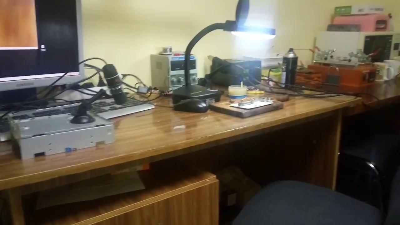 Моя мастерская по ремонту мобильных телефонов первое  видео
